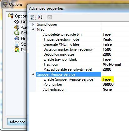 Activate Snooper Professional remote service