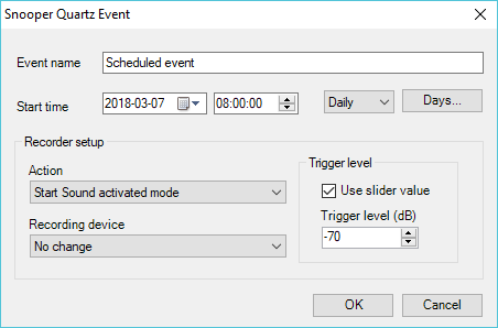 Snooper normal event